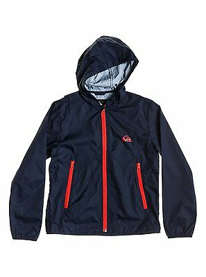 Bnwt Quiksilver Youth Everyday Blue Winbreaker Hooded Cagoule Jacket L 14 Years