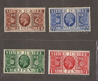 1935 Silver Jubilee Stamp Set  - Mlh