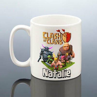 CLASH OF CLANS MUG PERSONALISED Birthday Gift Him Husband Cup Men Present Dad