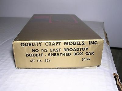 QUALITY CRAFT #324  East Broadtop Double-Sheathed Box Car Kit  HOn3
