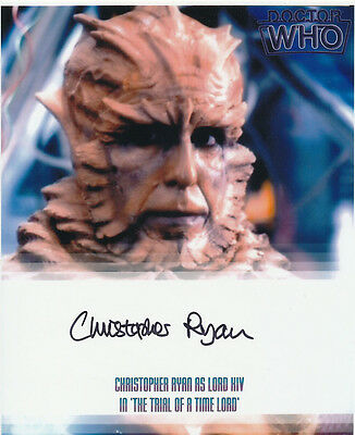 Christopher Ryan SIGNED photo - J603 - Doctor Who