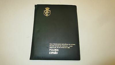 official programme 1986 Spain v Poland very rare original polska