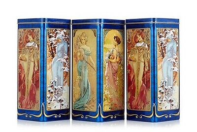 Churchill Set Of 3 Four Seasons Empty Tins