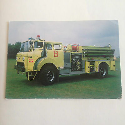 P 80 Fire Fighting Pumper Truck Fire Services National Benevolent Fund Postcard