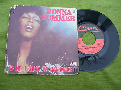 """DONNA SUMMER """" Try me ..i know ..we can make it / Wasted """" Atlantic  1976"""