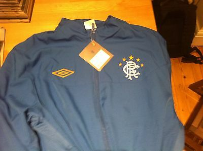 Glasgow Rangers Jogging Training Drill Top Jacket zip Blue Large Umbro Matchday