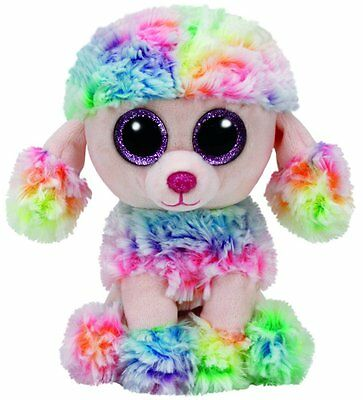 """Ty Beanie Boos RAINBOW Tie Dyed Poodle 9"""""""