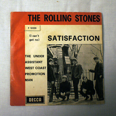 """The Rolling Stones  7"""" Satisfation / The Under Assistant....italy Press. F 12220"""