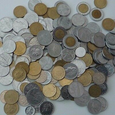 ITALY JOB LOT / COLLECTION 900g COINS FROM 1950's to 1990's Ref T064