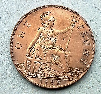 British - 1932 George V Penny - Good Extra Fine