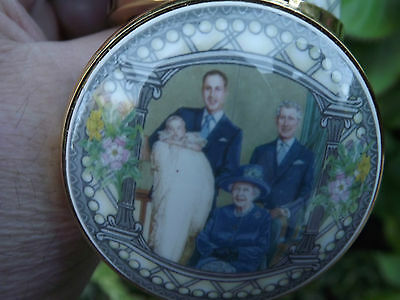 Four Generations of Royal Family at Prince George Christening China lidded box