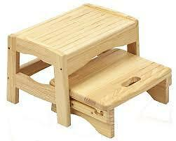 Safety 1st Wooden 2 Step Stool Natural