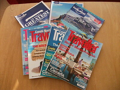 Bundle various Travel Magazines Conde Nast and Lonely Planet Traveller