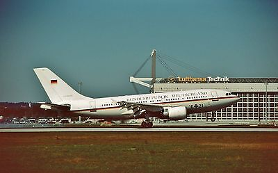 Original Slide Luftwaffe Airbus A310-304ET 10+21 CN 498  Interflug Aircraft