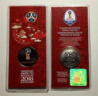 [RU135] Russia 25 roubles 2016 - FIFA World Football Cup 2018 Color (sealed)
