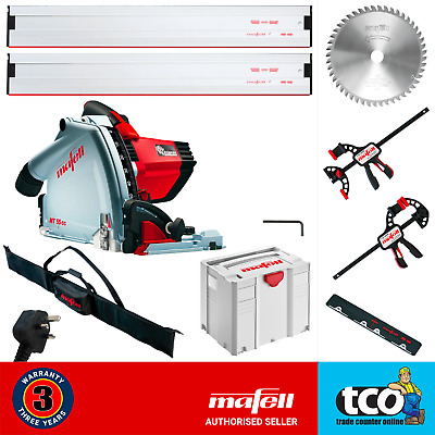 Mafell MT55cc MidiMax 240V Plunge Cut Saw + 2 x Guide Rail + Clamps + Bag - Kit
