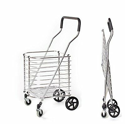 Portable Folding Shopping Cart 120 lb Capacity, Grocery Shopping Made Easy...NEW