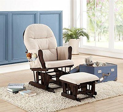 Nursing Chair Glider Rocker Ottoman Set Baby Furniture Rocking Seat Wood Cushion