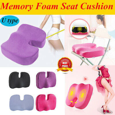 Memory Foam Coccyx Orthopedic Car Seat Office Chair Cushion Pain Relief Pillow #