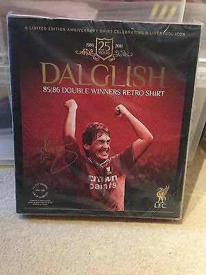 Liverpool FC Dalglish Boxed Double Winners 1985 / 1986 Shirt