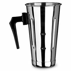 30oz Stainless Steel Malt Cup with Black Plastic Handle...NEW