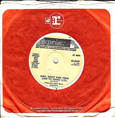 KENNY ROGERS - Ruby, Don't Take Your Love To Town (1969) EX REPRISE RS.20829