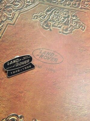 1998 50th Land Rover Anniversary Pin & Celebration Album & Journal  At The Lodge