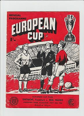 Orig.PRG   European Cup  59/60  FINAL EINTRACHT FRANKFURT - REAL MADRID ! RARITY
