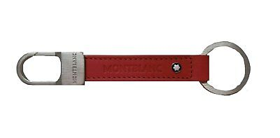 New In Box Montblanc Signature Key Fob Strap Ring Red Leather 104142 France