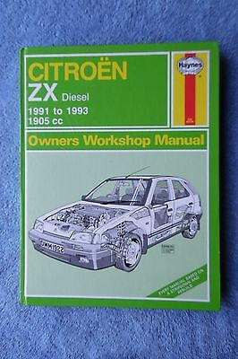 Citroen ZX Diesel 1991-93, 1905cc Haynes Owner's Workshop Manual