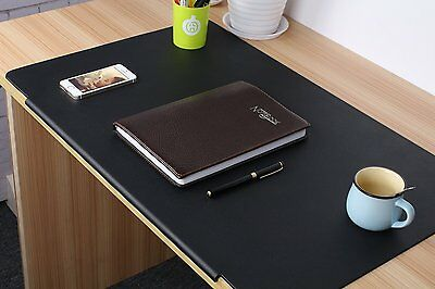 "LOHOME Desk Pads - 27.5"" x 17.7"" Large Size Rectangular Leather Laptop Desk Mat"