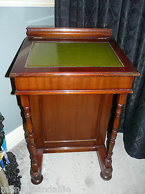 Mahogany Reproduction Leather Topped Davenport Writing Desk