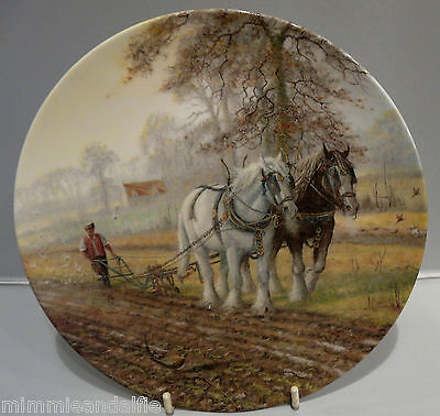 ROYAL DOULTON COLLECTORS PLATE - HIS HAND TO THE PLOUGH - Ltd EDITION