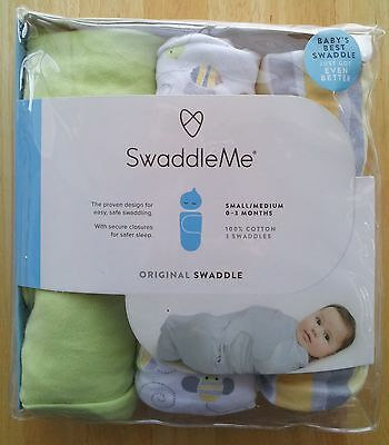 SwaddleMe Original Swaddle 3-PK, Busy Bees (SM),  0-3 Months