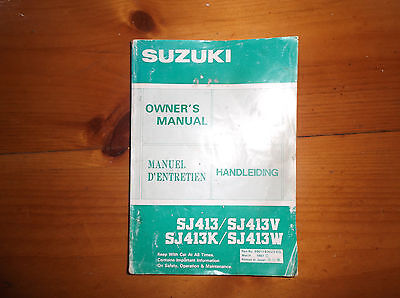 Suzuki SJ Manual / Handbook