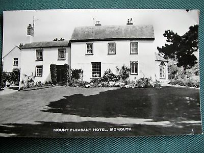 Real Photo vintage postcard of Mount Pleasant Hotel, Sidmouth, Devon 1970s
