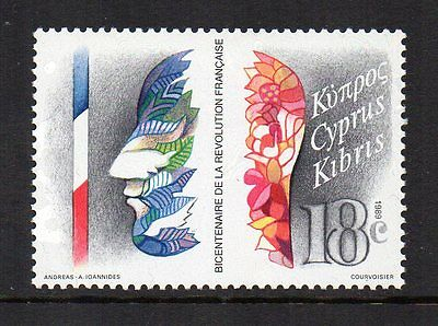 CYPRUS - 1989, 200th Anniversary of French Revolution, MNH