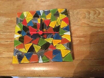 mosaic glass clock by affinity fine art castle cary