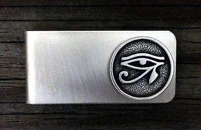 The Eye of Horus Money Clip -Ancient Symbol/Egyptian/Handcrafted #1565