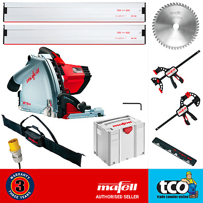 Mafell MT55cc MidiMax 110V Plunge Cut Saw + 2 x Guide Rail + Clamps + Bag - Kit