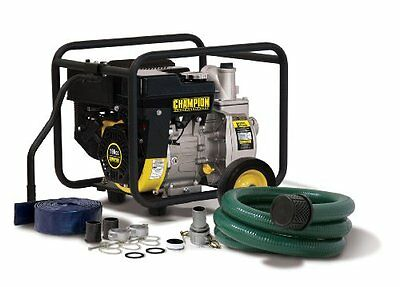 Champion Power Equipment 66520 2-Inch Gas Powered Semi-Trash Water Pump wi...NEW