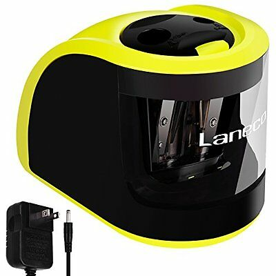 Laneco Handheld Electric Pencil Sharpener, Adapters or Battery Operated, H...NEW