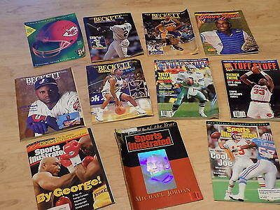 11 Back Issues:Tuff Stuff, Beckett Monthly, Sports Illustrated (M.Jordan)  LOOK!