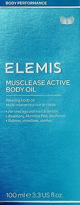 Elemis Musclease Active Body Oil 3.4oz /100ml Exprt.Date 2019 Relaxing New Box