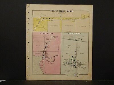 1864 WI MAP FOND DU LAC FOREST GRANT GREEN LAKE  IOWA IRON COUNTY History HUGE