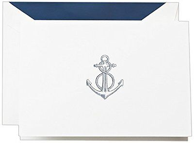 Crane & Co. Anchor Note (CF1412), Pack of 10...NEW