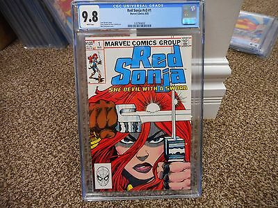 Red Sonja 1 cgc 9.8 Marvel 1983 v3 GREAT cover WHITE pages 8/83 Conan movie HOT