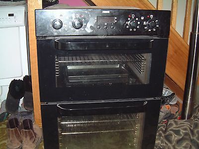 zanussi double oven electric cooker built in oven unit