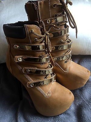 Timberland look killer heel boots size UK 6.5 US 8.5 Brand New