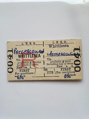 L, N, E, R,      Ticket,  (  Whittlesea  To  Peterborough,  1967, )